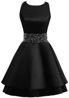 MEILISAY Womens Crew Beading Prom Dresses Short Sequined Homecoming Dresses for Teens Mini Cocktail Dresses Cute Prom Dresses, Dance Dresses, Ball Dresses, Pretty Dresses, Homecoming Dresses, Beautiful Dresses, Dress Prom, Girls Fashion Clothes, Teen Fashion Outfits