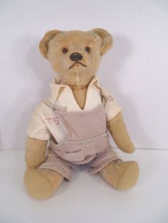 1915 -20  Antique American Teddy Bear Cork Stuffed head Hahn Amberg Co