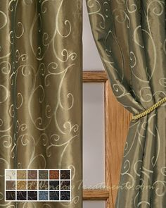 Chateau Curtain Panel available in 18 choices