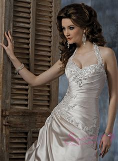 Peinado - Hairstyle  Halter Wedding Dresses 0018