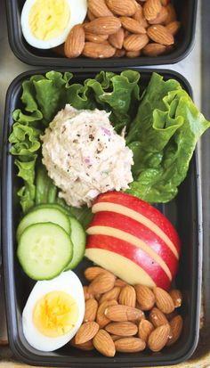 Tuna Salad Meal Prep - 30 Delicious and Healthy Meal Prep Recipes That'll Get. - Tuna Salad Meal Prep – 30 Delicious and Healthy Meal Prep Recipes That'll Get You Pumped for F - Lunch Meal Prep, Easy Meal Prep, Healthy Meal Prep Lunches, Nutritious Meals, Diet Meals, Healthy Premade Meals, Meal Prep Salads, Healthy Food Prep, Meal Prep Low Carb