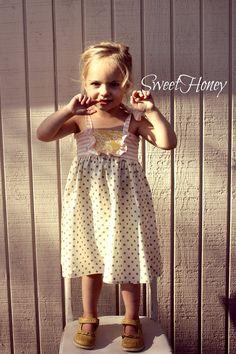 SweetHoney Yellow Pink Grey Girls Tie Knot Ruffle by SweetHoney2, $40.00