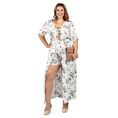 eba755871d3 Hadari Xehar Womens Plus Size Stylish Short Jumper Romper Playsuit