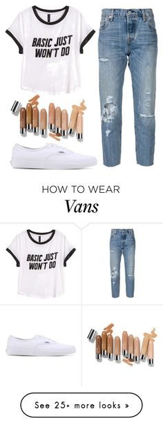 """""""Untitled#141"""" by angieleabourgeois on Polyvore featuring Levi's, H&M and Vans"""