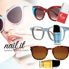 Trending: Eyewear and Polish Matching