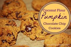 These look amazing! Sub raw cacao chips for the chocolate if allergies prevent using organic chocolate chips. ORIGINAL: Coconut Flour Pumpkin Chocolate Chip Cookies