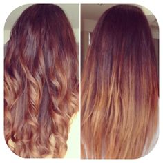 Curls Hair Balyage Ombré. Curly and straight hair