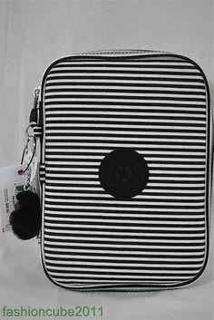 Kipling 100 Pens Pencil Case Black Stripe | eBay