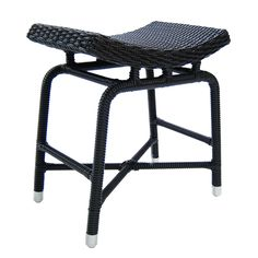 The Matrix Stool, Resin Weave from Walters Wicker Exterior Collection.
