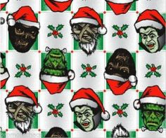 MONSTER SANTA CLAUS GIFT WRAPPING PAPER Zombies Dracula Frankenstein Christmas  ***FREE U.S. SHIPPING***  Additional 5% Off when you spend $50+ ~ SAVE 15% OR MORE! 500+ Fun, Rare and/or Beautiful items & Gifts to choose from! TO PURCHASE WITHOUT EBAY: Please contact us through the Facebook link below. Thanks for looking! :o)  http://stores.ebay.com/PromoteChaosCollectiblesandMore       Facebook: https://www.facebook.com/PromoteChaosStore