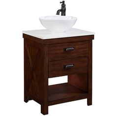 Style Selections Cromlee Bark Vessel Single Sink Poplar Bathroom Vanity with Engineered Stone Top (Faucet Included) (Common: x Actual: x 20 Inch Bathroom Vanity, Home Depot Bathroom Vanity, Single Sink Bathroom Vanity, Bathroom Vanity Cabinets, Bathroom Vanities, Bathroom Ideas, White Bathroom, Bathroom Organization, Vanity Mirrors