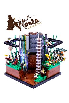 Wonka - The Chocolate Room Lego MOC by Max Pointner, via Flickr