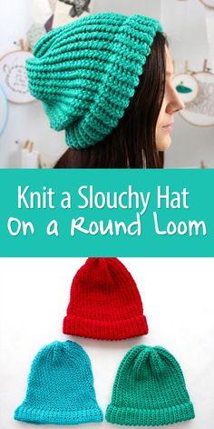 Knitting On A Loom Is Easy Even If You've Never , das stricken auf einem webstuhl ist einfach, auch wenn sie es noch nie getan haben , tricoter sur un métier à tisser est facile même si vous ne l'avez jamais fait de tejer para principiantes Loom Knitting For Beginners, Round Loom Knitting, Loom Knitting Stitches, Loom Knitting Projects, Finger Knitting, Easy Knitting, Start Knitting, Knifty Knitter, Sock Knitting