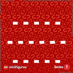 LEGO Minifigures Series 7 Background for Ikea Ribba Frame