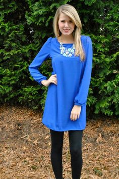 Solid as a Rock Dress in Royal - $44