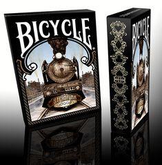 Bicycle #Poker Deck #Steampunk Tuck Box - Steam #Train #Kickstarter