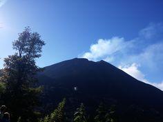 Cráter del volcán de Pacaya, ubicado en el Departamento de Escuintla.
