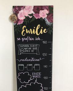 Growth chart, Messlatte Kinder, kindermesslatte, Ruler, taufgeschenk, Taufpaten Wood Crafts, Diy And Crafts, Arts And Crafts, Baby Room Diy, Baby Rooms, Height Chart, Kids Wood, Lettering, Instagram
