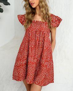 Cute Dresses, Casual Dresses, Casual Outfits, Cute Outfits, Short Sleeve Dresses, Summer Dresses, Trend Fashion, Look Fashion, Girl Fashion