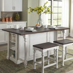 Bourbon County Kitchen Island Set (French Country) Sunny Designs in Formal Dining Sets. The Bourbon County Dining Room Collection by Sunny Designs has a timeless old world charm. French Country Rug, French Country Kitchens, French Country Decorating, French Cottage, Top Country, Rustic French, French Kitchen, Coastal Cottage, Kitchen Ikea