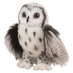 "At 9"" tall, Crescent silver owl is ultra soft, endearing and completely…"