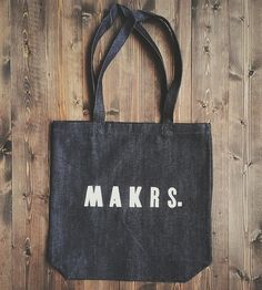 Makrs. Letterpress Tote Bag by the Good Union on Scoutmob