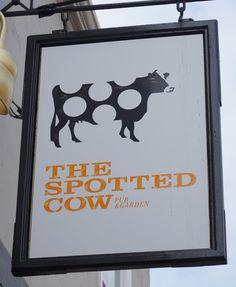 Pub Sign Art a la cARTe: The Spotted Cow - Bristol