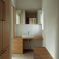 Double Vanity, Dresser, Tile Bathrooms, Architecture, Home, Arquitetura, Powder Room, Ad Home, Stained Dresser