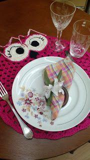 Fada do Crochet: Sousplat Pink