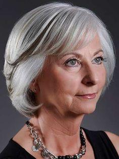 short hairstyles for women over 50 gray hair | latestrends.net