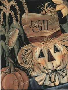 Welcome in the changing seasons with this autumnal canvas waiting to welcome guests with a wash of warm color and vintage-inspired artwork. W x H x DCanvasImported Fall Canvas Painting, Flag Painting, Autumn Painting, Autumn Art, Canvas Paintings, Scarecrow Painting, Scarecrow Face, Scarecrow Crafts, Scarecrow Wreath