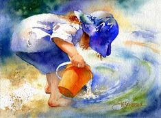 Wonder - Child Playing in a River by Susan Crouch