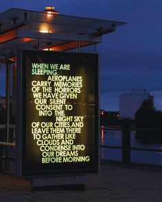 Robert Montgomery's WORDS IN THE CITY AT NIGHT