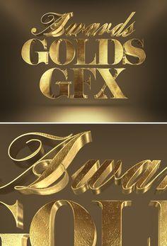 Free 3D Gold Text Effect