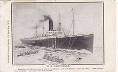 Carpathia, Ship that rescued the Titanic Ship Ships Postcard Postcards Titanic Ship, Rms Titanic, Rms Carpathia, Titanic Underwater, Titanic Survivors, Dallas Cowboys Logo, Rope Ladder, Cool Pins, Fun Facts