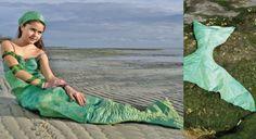 Un costume de sirène avec queue amovible
