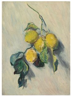 Claude Monet 1840 - 1926 BRANCHE DE CITRONNIER Oil on canvas 19 3/4 by 22 3/8 in. Painted in 1884 | Sotheby's