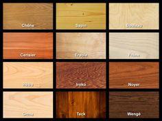 12 essences de bois utilisées dans l'ameublement