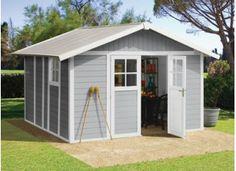 Abri PVC DECO 11 GRIS CLAIR :::: 3,15 x 3,55 m Outdoor Structures, Design, Points, Sheds, Dimensions, Creations, Products, Houses, Quartos