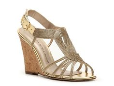 Adrianna Papell Boutique Kelsey Wedge Sandal- gold