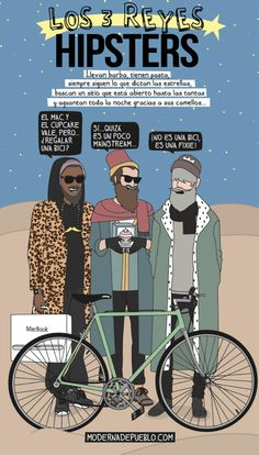 Los tres reyes hipsters | Risa Sin Más Ap Spanish, Spanish Culture, Spanish Humor, Spanish Lessons, How To Speak Spanish, Spanish Teacher, Spanish Classroom, Teaching Spanish, Hipsters