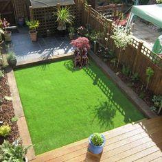 Garden around fake grass and devlck - Modern Design