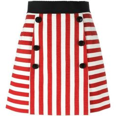 Dolce & Gabbana striped mini skirt ($680) ❤ liked on Polyvore featuring skirts, mini skirts, bottoms, red, red skirts, red striped skirt, red mini skirt, mini skirt and a line skirt