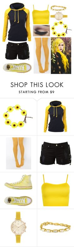 """ROYGBIV Challenge ~ Day Three"" by awkward-goth ❤ liked on Polyvore featuring ASOS, Amapô, Converse, WearAll and Orla Kiely"