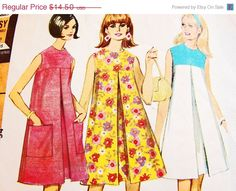 on SALE 1960s Dress Pattern McCalls Misses by PatternsFromThePast