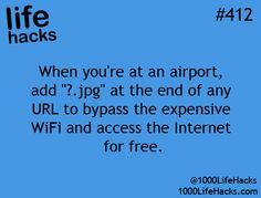 1000 Life Hacks. I wonder if this is true? I'll have to try it out next time I fly!