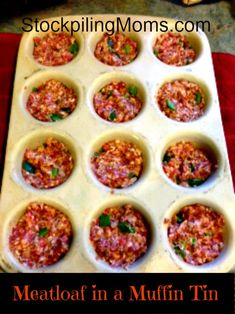 Muffin tin meatloaf Recipe - STOCKPILING MOMS™
