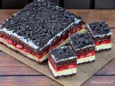 Ciasto Calineczka Nutella, Cake Recipes, Dessert Recipes, Layered Desserts, Polish Recipes, Tiramisu, Ale, Food And Drink, Birthday Cake