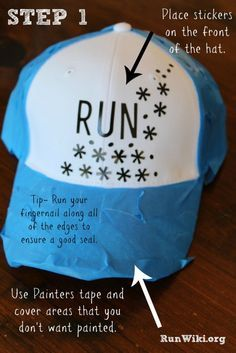 3081dc50a833 Easy DIY Trucker Hat for Runners