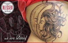 Tatuaje de Luna realizado por Eduardo Alonso